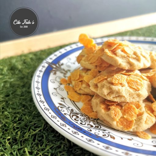 Cornflakes Butter Cookies - Cik Fah's